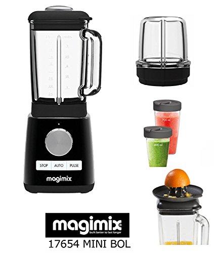 Magimix Power Blender Blender schwarz neu 1300 W 22000 U/min (c 3 Zubehör-: Mühle-Saftpresse-Mixbecher)