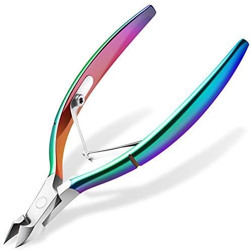 Cortador de cutículas Ejiubas con empujador de cutículas, cortador de cutícula de grado profesional, de acero inoxidable, herramienta de manicura duradera