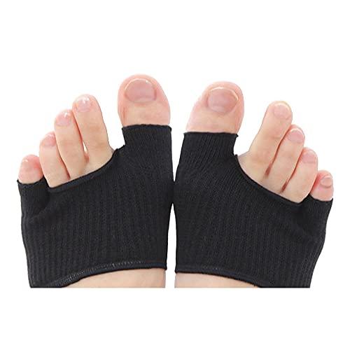外反母趾 内反小指対策 親指小指の綿混インナー さらさらソックス 男女兼用 ブラック 黒