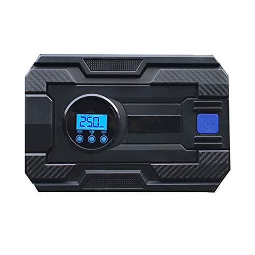 Neumático del Portátil de compresor de aire del neumático del neumático del coche de 12V DC bomba con Manómetro digital brillante de la linterna de emergencia Bomba automática de aire del compresor