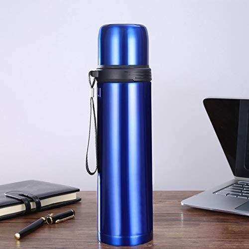 Termo Termo de Acero Inoxidable Botella de Agua Taza de café Taza de Viaje Botella sin Aire portátil -, 750 ml, C