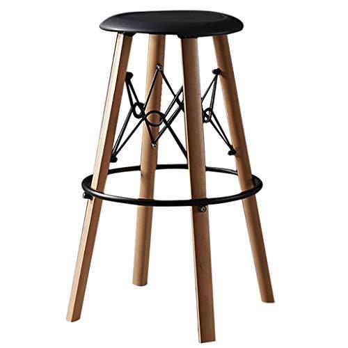 Barkrukken Beechwood Benen, ABS Oppervlaktezit/Witte Stoel/Hoge Kruk/Vrije tijd Stoel/Hoogte 68 cm Keuken Counter Bar Ontbijt Stoelen -76 cm