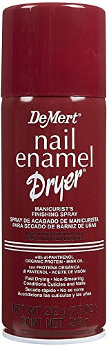 DeMert Nail Enamel Dry Spray 7.50 oz (Pack of 4)