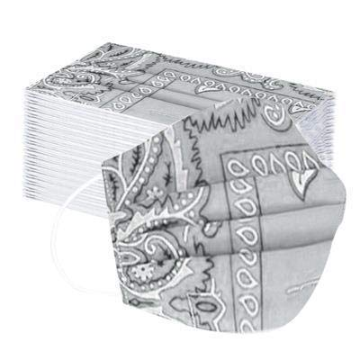 Jieou Einweg-Hygienebeutel, universal, 50 Stück, verpackt, atmungsaktiv, dreilagig, bedruckt, modisches Design, Staubschutz für Kinder