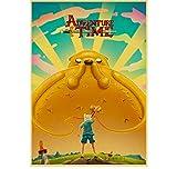 Mengyun Store Vintage Poster Cartoon Adventure Time Retro Posters Pegatinas De Pared Pintura Sin Marco Impresiones Lienzo Alto Arte De La Pared Mural Sz1168 (50X70Cm)