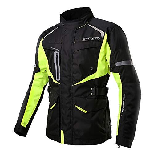 LALEO Hombres Chaqueta de Moto, Transpirable Cálido Impermeable Anti-caída...