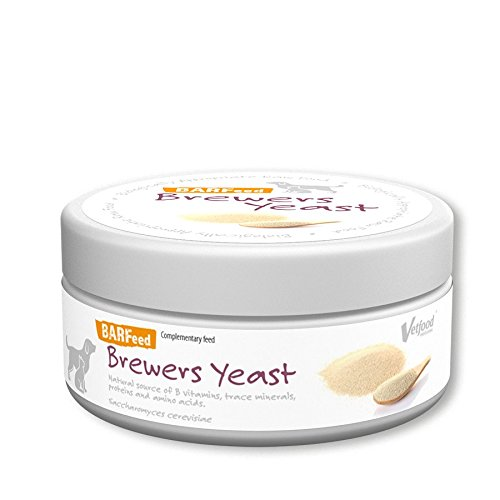 Vetfood BARFeed Brewer's yeast | Source of B vitamins, protein and amino acids| Supports the nervous system | Barf for cats & dogs | Raw feed | 180 g