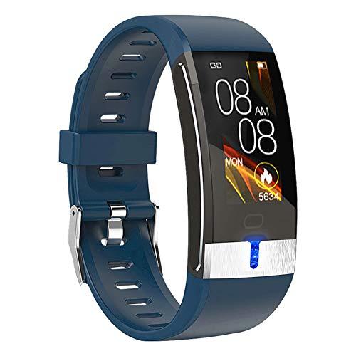 Q-HL Smartwatch Reloj Inteligente E88 Smart Sports Bracelet Reloj Deportivo Multifunción con Recuento De Pisos Saludable Electrocardio Temperatura para Niños Mujeres Hombres - Azul