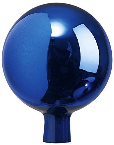 Windhager Rosenkugel, Gartenkugel, Sonnenfänger-Kugel, Glas-Deko für Garten und Terrasse, winterfest, mundgeblasen, blau, 16 cm, 07806