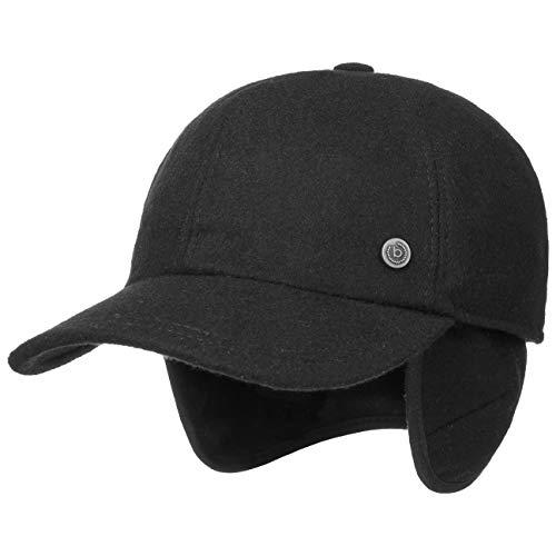 Bugatti Windstopper Gore Baseballcap Baseballkappe Windschutz Nackenschutz Wollcap Wintercap (59 cm - schwarz)