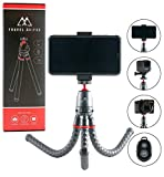 PicsClix Travel Tripod with Aluminum Ballhead - Includes Wireless Remote, GoPro Adapter, Phone Adapter. Use as...