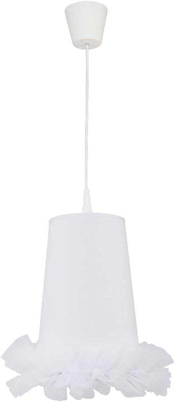 Suspension en tissu blanc motif tutu pour fille mignonne lampe de chambre d'enfant