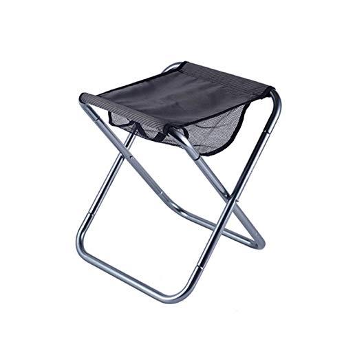 Sgabello pieghevole per esterni, campeggio, barbecue, portatile, in lega di alluminio, per pesca, campeggio, pesca, picnic, viaggi ed escursionismo, grigio