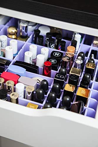 MissOrg - Separadores de cajones para IKEA Alex de 5 cajones, organizador de maquillaje acrílico