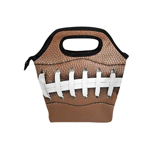 3D American Football Lunch Bag Einkaufstasche Lunch Organizer Lunch Holder für Schularbeiten im Freien