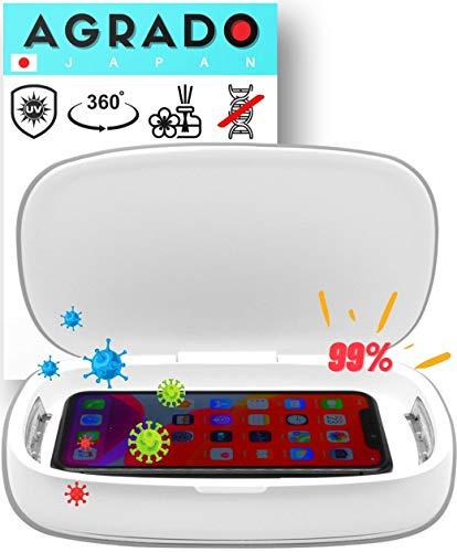 UV Box Desinfektion von AGRADO【Neues Modell 2020】für Handy, UV Reinigungsgerät, UVC Sterilisator, Smartphone, Uhren, Schmuck usw. S2 (Weiß)