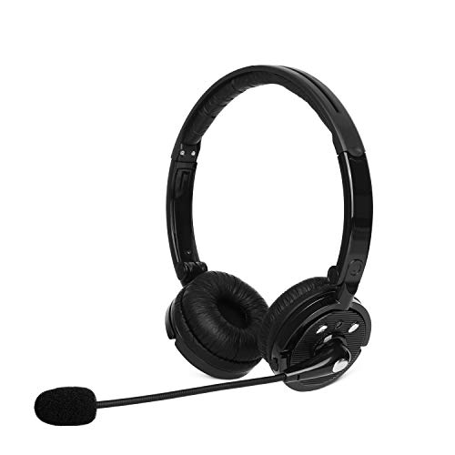 Giveet Bluetooth Headphones for Cell Phones, Wireless Office On Ear Headset with Noise Cancelling Microphone, 90° Swiveling Earcups, 12h Talking Time for Trucker, Telephone, Skype, Call Center, PC