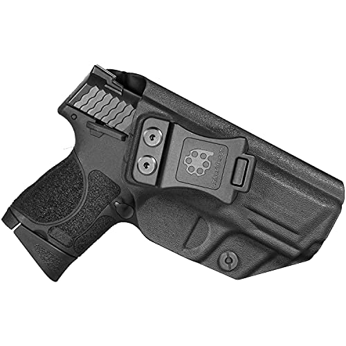 """Amberide IWB KYDEX Holster Fit: S&W M&P 9/40 M2.0 Compact 3.5"""" & 3.6' Barrel Pistol   Inside Waistband   Adjustable Cant   US KYDEX Made (Black, Right Hand Draw (IWB))"""