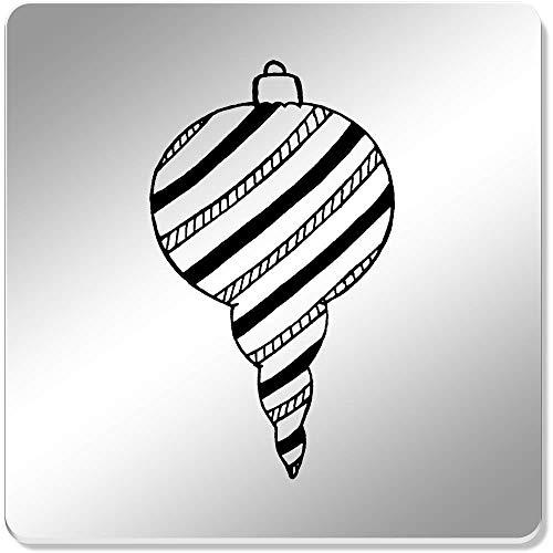 Azeeda 6 x 'Boule de Noël' sous-Verres Miroir (CR00141205)