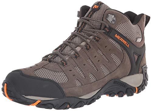 Merrell Men's Accentor Mid Vent Waterproof Hiking Boot, Boulder/Orange...