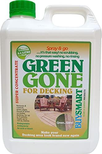 Buysmart Products 2.5L Green Gone Decking Super Concentrate Algae Mould/Moss Killer