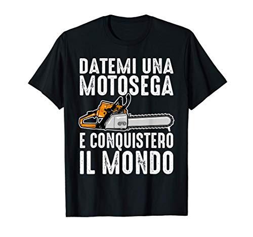 Abbigliamento Falegname Divertente Motosega Asce Boscaiolo Maglietta