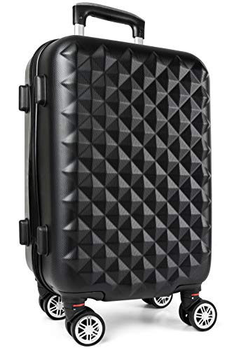 iN Travel Spinner Wheeled Luggage Carry On Size Suitcase Hard ABS Shell Travel Suitcases Fully Lined Interior, 360 Degree Wheels, Built-in TSA Approved Number Lock Stress Free Travel