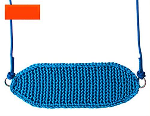 YYDMBH Columpios Asiento de Swing con Cuerdas Ajustables. (Color : Blue)