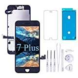 VANYUST for iPhone 7 Plus Screen Replacement LCD Display Touch Digitizer with Front Camera and Earpiece Compatible for iPhone 7 Plus Black 5.5 inch