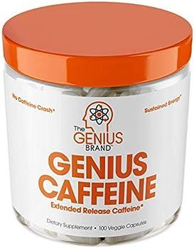 100-Count Genius Caffeine Extended Release Microencapsulated Caffeine Pills