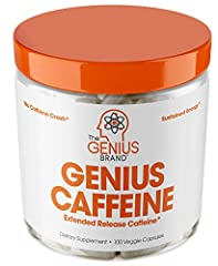 SMART CAFFEINE – Genius Caffeine is different than every other caffeine pill on the market because it's sustained released, ultra pure trademarked version (NEWCAFF) TRUE SUSTAINED ENERGY – Normal caffeine is quickly absorbed leading to a stimulating ...