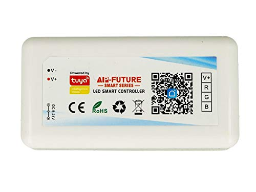 LEDLUX CL3803 - Mini Centralita Tuya Smart Controller Wi-Fi LED Dimmer RGB 3 canales compatible con Alexa Google Home