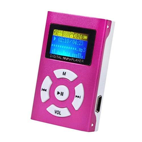 mymotto - Mini Lettore MP3 Portatile con Schermo Monocromatico, 4,6 x 3 x 1,5 cm, Rosa, Taglia Unica