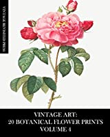 Vintage Art: 20 Botanical Flower Prints Volume 4: Ephemera for Framing, Collage, Decoupage and Junk Journals