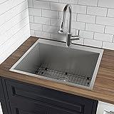 Ruvati Topmount Laundry Utility Sink 25' x 22' x 12' Deep 16 Gauge Stainless Steel - RVU6010