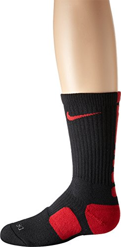 Nike Dri-FIT Elite Crew Basketball Socks Black/Varsity Red/Varsity Red Size Small
