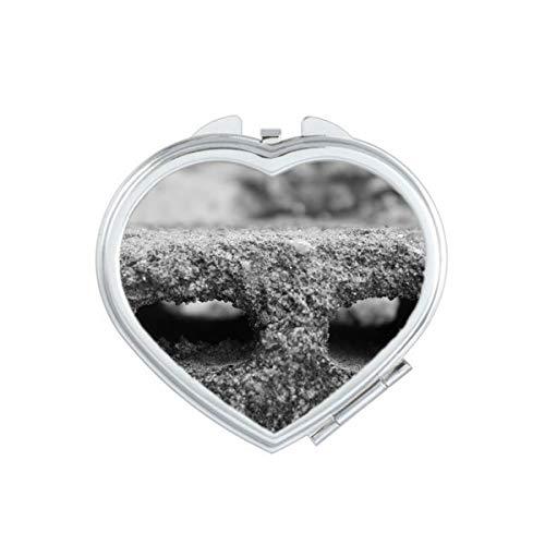 Industriële Materiaal Modellering Fotografie Hart Compact Make-up Spiegel Draagbare Leuke Hand Pocket Spiegels Gift