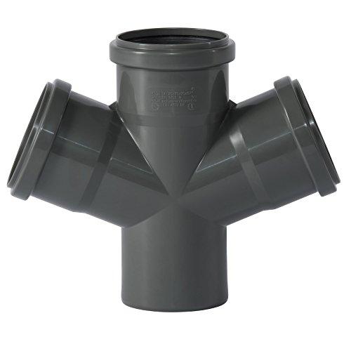 Ostendorf HTsafe Doppelabzweig DN 75/75/75 mm 67 Grad HT-Rohr