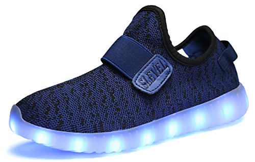 SLEVEL Kids Boys Girls USB Charging LED Light Up Shoes Flashing Dance...