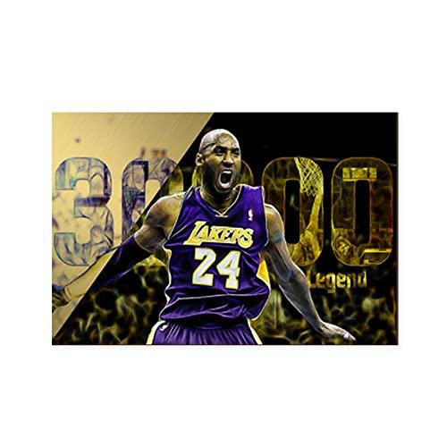 AOXULIU Cuadro sobre Lienzo 60x90cm Sin Marco Michael Jordan Kobe Bryant Poster Baño Interior Pinturas Oficina Vintage Bar