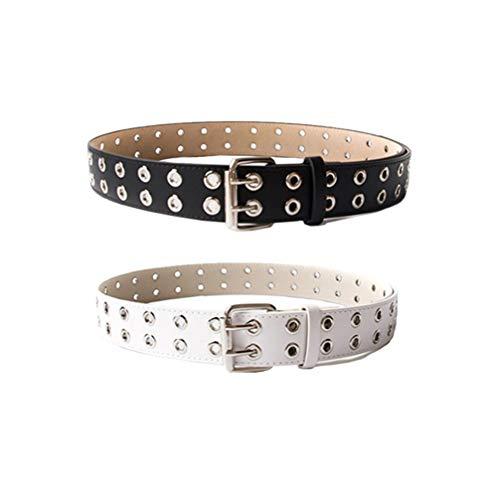 TENDYCOCO Cinturón de Cuero de Moda Cinturón para Mujeres Niñas Jeans Pantalones...