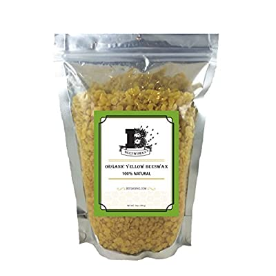 Natural Planet Beeswax Pellets 100% Organic-Tested and Certified Organic*- Must Have Item for Many Different Projects- Including Lotions, Salves, Body Butters, Deodorant, Lip Balm, Candle Making and Furniture Polish - Yellow