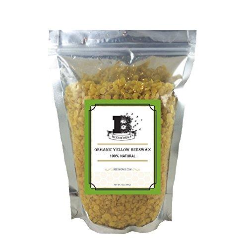 Beesworks Organic Yellow Beeswax Pellets - 14oz Certified Organic