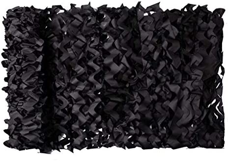 NINAT Woodland Camo Netting Camouflage Net Black Bulk Roll for Hunting Shooting Camping Military product image