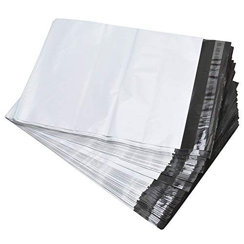 SJPACK 10x13-inch 10000 Bags 2.5 Mil Poly Mailers Envelopes Bags with Self-Sealing Strip White Bags