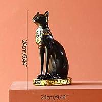 彫刻置物置物古代神猫スフィンクス置物燭台樹脂デスクトップキャンドルホルダー家の装飾結婚式のギフト-G