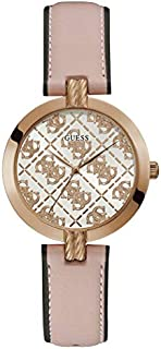 Guess Dress Watch for Women, Stainless Steel Case, Rose Gold Dial, Analog -GW0027L2