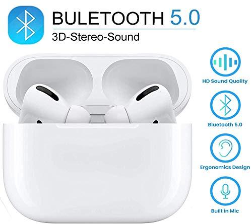 Auricolari Bluetooth 5.0 Auricolari Senza Fili, IPX5 Impermeabile Vero Wireless Cuffie Sport,riduzione del rumore stereo 3D HD, Adatto Per Samsung/iPhone/Android/AirPods pro/Huawei