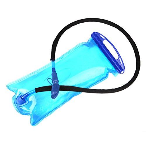 VORCOOL 2L Hydratation réservoir d'eau de la vessie BPA libre Big Zip sac d'eau sac à dos de stockage pour le camping randonnée à cheval (bleu)