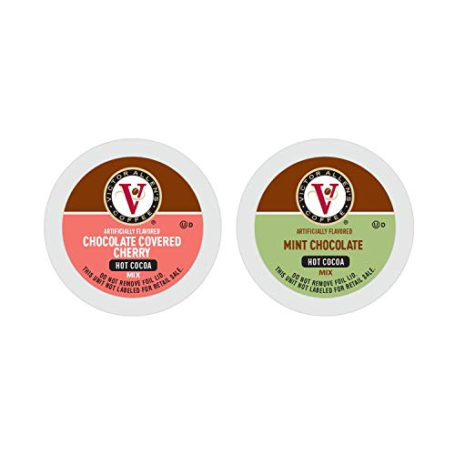 Victor Allen's Coffee Variety Cocoa Mix (Chocolate Mint and Chocolate Covered Cherry), 42 Count Single Serve Coffee Pods for Keurig K-Cup Brewers